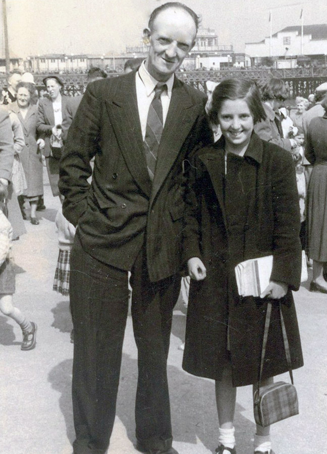 William Evans with his daughter Olive c 1950